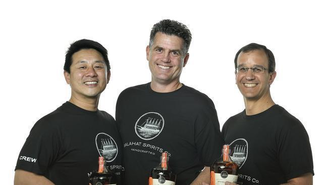 Ken Lee, Thomas Bleakley and Tony Grillo are partners, co-founders and distillers at Malahat Spirits Co. (Rick Nocon)