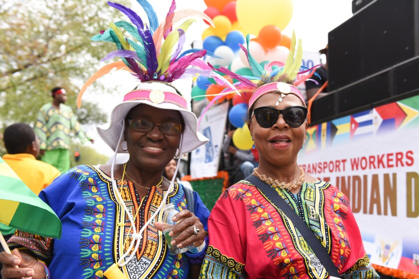 West Indian Paradegoers are pictured in Brooklyn's Crown Heights on Labor Day in 2016.