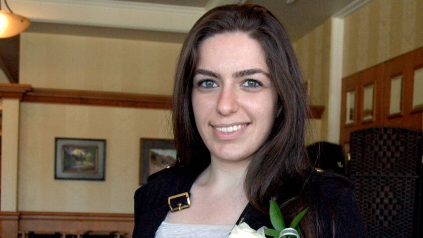 Lina Petrossian received the YWCA's Jane O'Connor Community Volunteer Service Award.