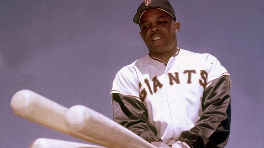 San Francisco outfielder Willie Mays poses for a photo in 1968.