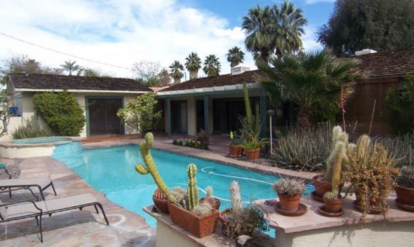 The AIDS activist added the swimming pool during his ownership.