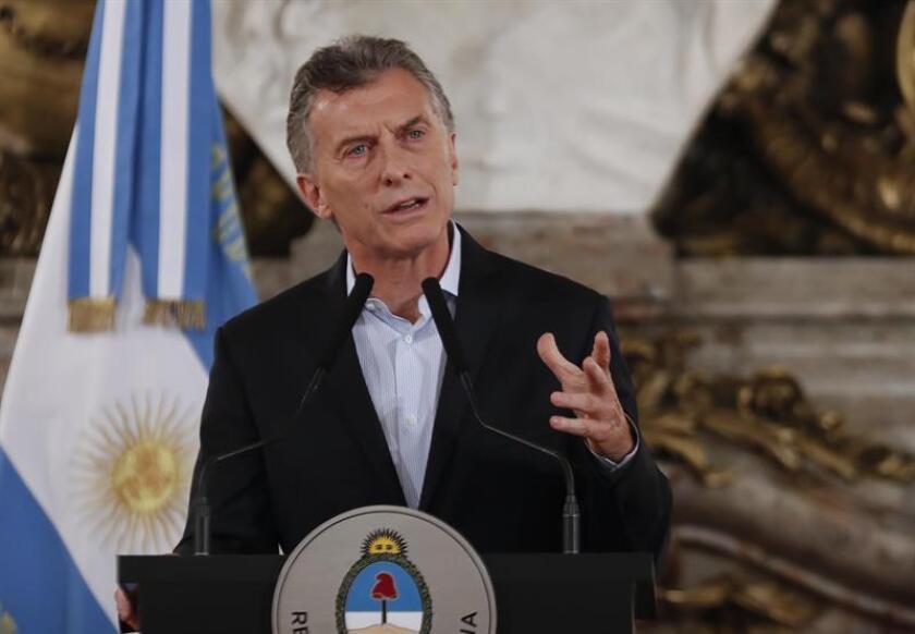 En la imagen un registro del presidente de Argentina, Mauricio Macri. EFE/Archivo