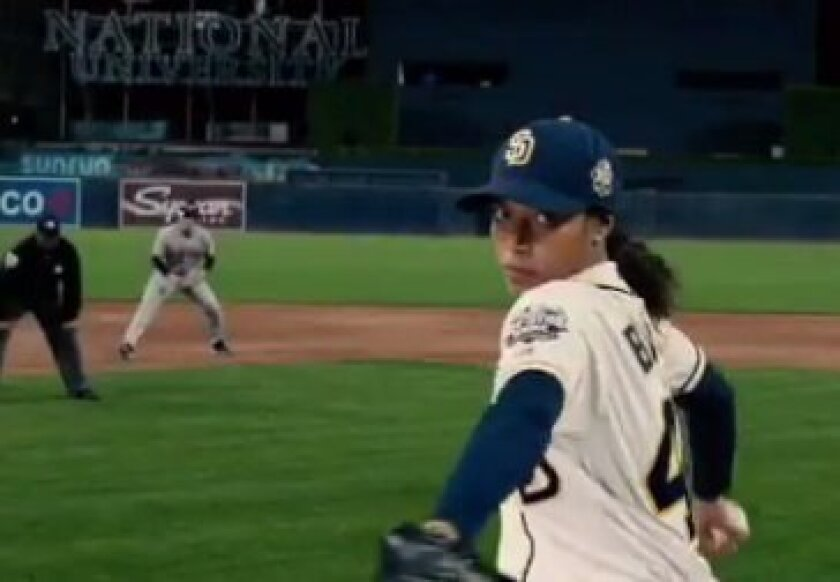Kylie Bunbury plays the first MLB female pitcher, and plays for the San Diego Padres, in a new Fox TV show pilot premiering this fall.