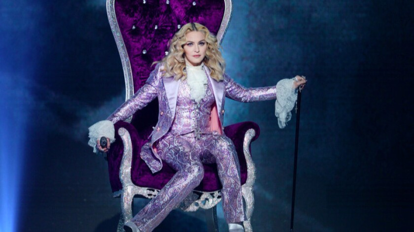 Madonna performs a tribute to Prince during the Billboard Music Awards.