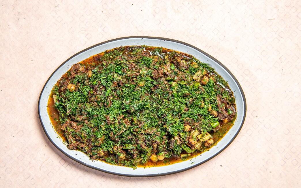 "Sumaqqiyeh from the cookbook ""Falastin"" by Sami Tamimi and Tara Wigley."