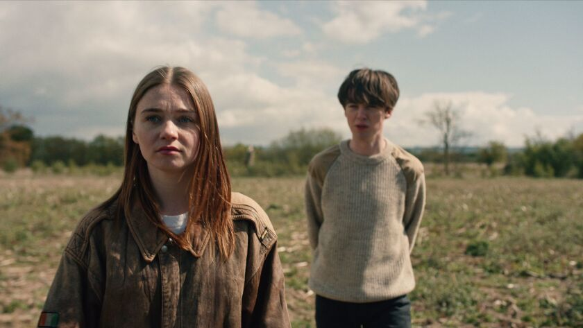 "Jessica Barden and Alex Lawther in ""The End of the F***ing World"" on Netflix."