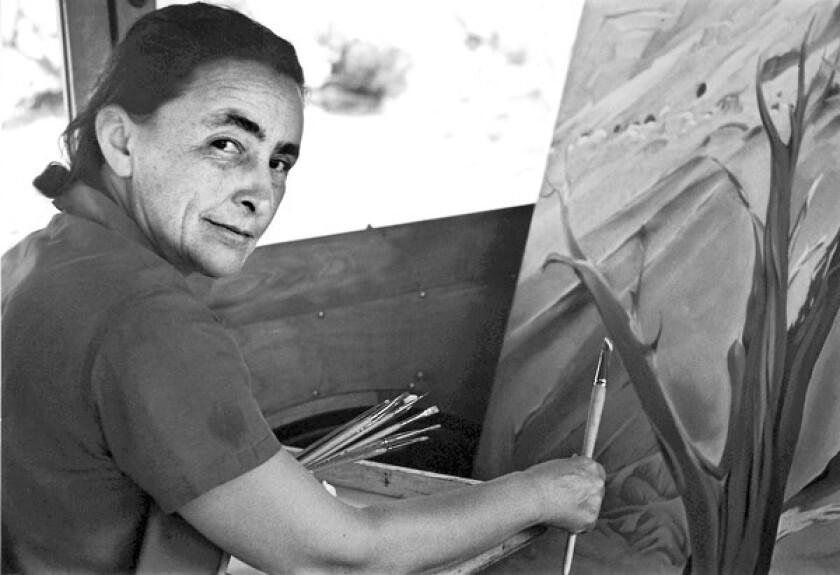 Artist Georgia O'Keefe in 1937.