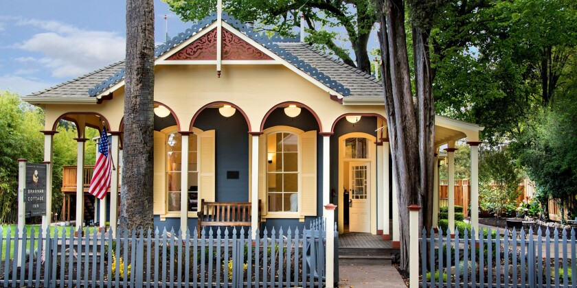 The historic Brannan Cottage Inn recently reopened after renovations.