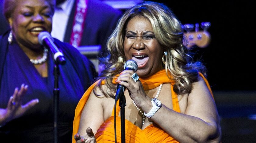 The Queen of Soul, Aretha Franklin, performs at Nokia Theatre at L.A. Live on July 25, 2012.