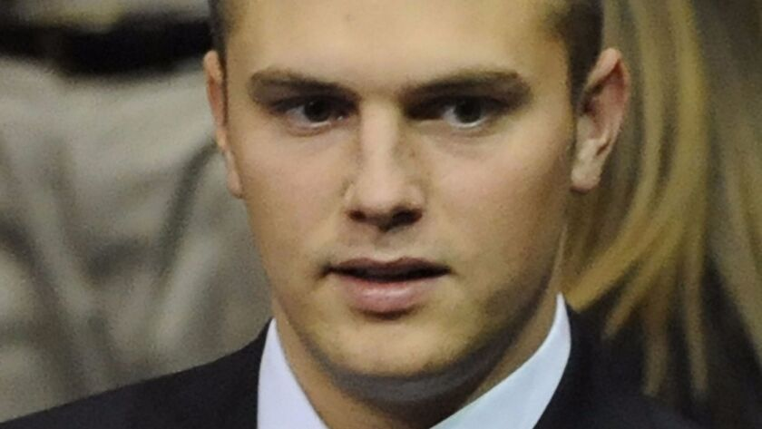 Track Palin is shown at the Republican National Convention in St. Paul, Minn., in September 2008.