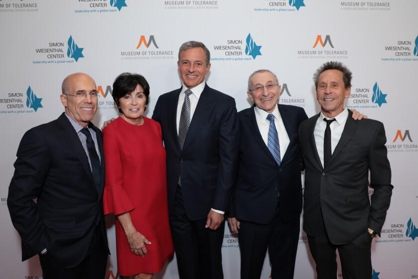 Jeffrey Katzenberg, Marilyn Katzenberg, Robert A. Iger, Marvin Hier, Brian Grazer