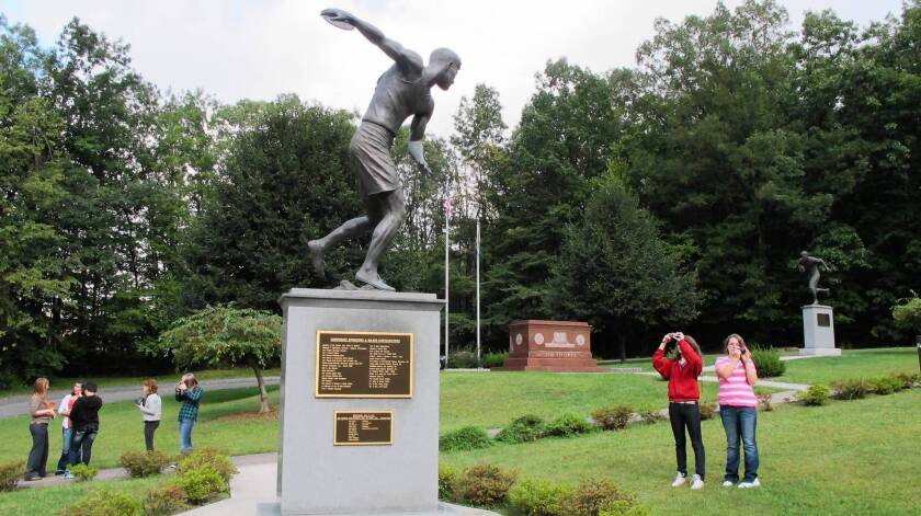 Jim Thorpe, Pa., named itself after the Olympic athlete, who is buried there. Now, members of Thorpe's family want his remains back on the Oklahoma reservation where he grew up.