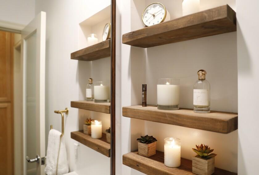SANTA MONICA, CA - DECEMBER 10, 2018 Re-thinking the wall medicine cabinet, designer Amalia Gal cre