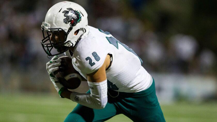 Helix running back Elelyon Noa rushed for 637 yards in six games as a freshman last season.