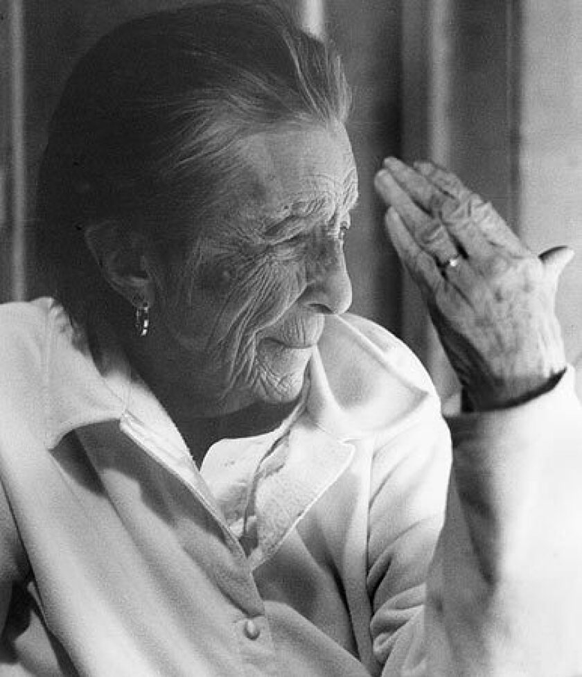 Louise Bourgeois in 2003. See full story