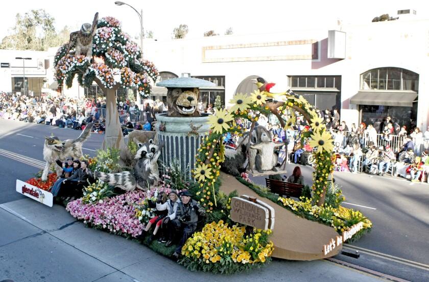 Glendale Rose Parade float