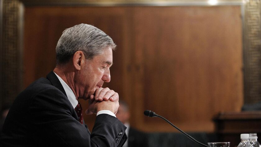Robert S. Mueller III, who led the Russia investigation for nearly two years, is testifying on Wednesday.