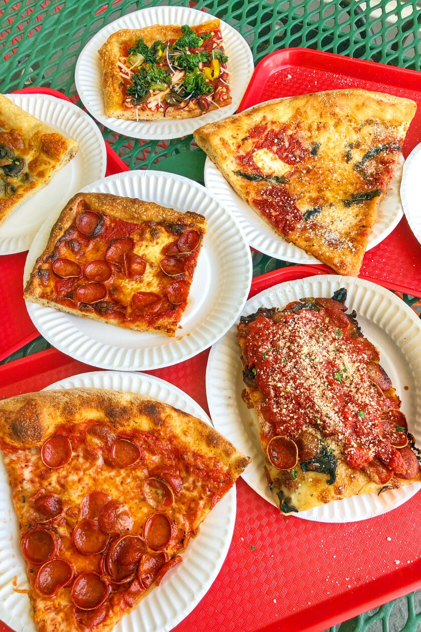A selection of pizzas from Good Pie.