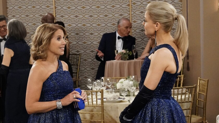 """Katie Couric and Faith Ford in """"Murphy Brown"""" on CBS."""