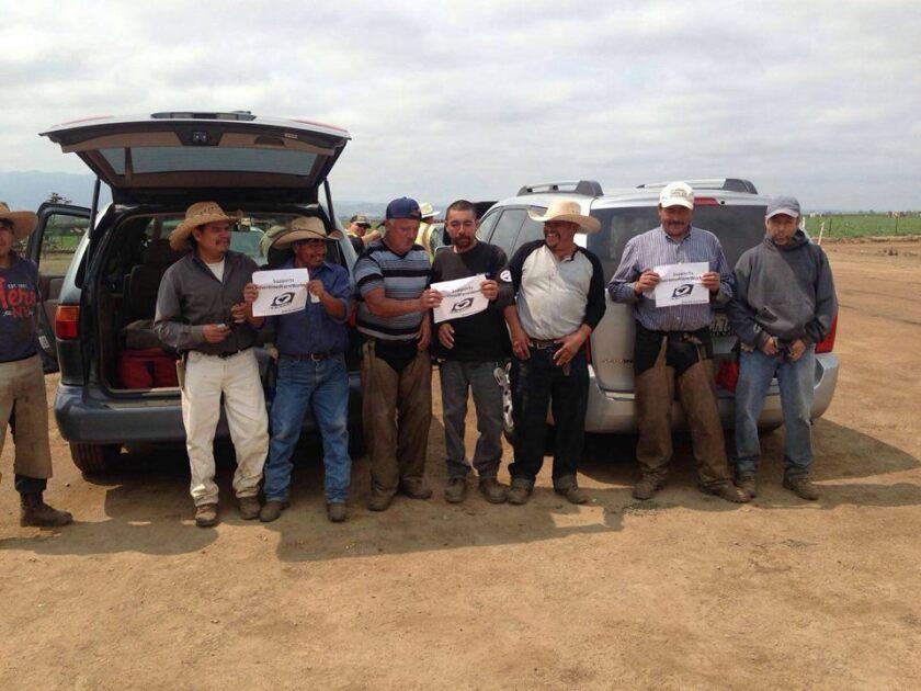 Foto de las redes sociales del Sindicato de Trabajadores del Campo (UFW).