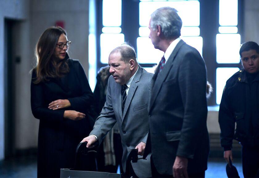 Harvey Weinstein arrives to the Manhattan Criminal Court, on Jan. 31 in New York City
