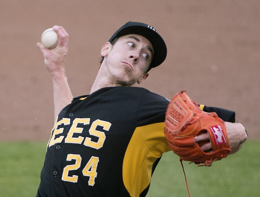 Tim Lincecum pitches for the Triple-A Salt Lake Bees in a baseball game against the Tacoma Rainiers on Thursday, June 2, 2016, in Tacoma, Wash. Lincecum, 7-4 last season with San Francisco, underwent season-ending hip surgery last September and was released by the Giants. He was signed by the Los A