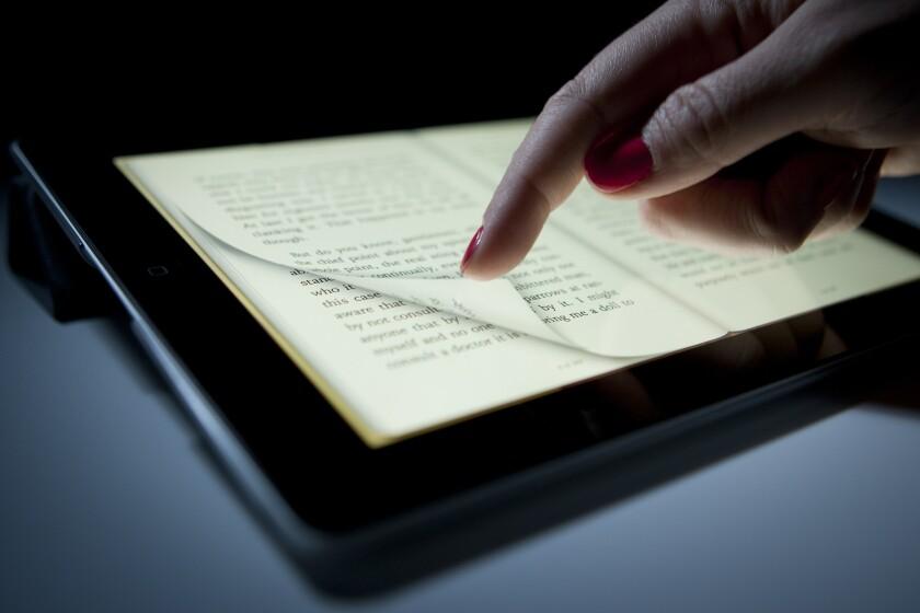 A digital book on an Apple Inc. iPad.