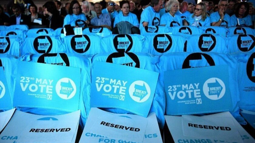 Brexit Party rally at Olympia in London, United Kingdom - 21 May 2019