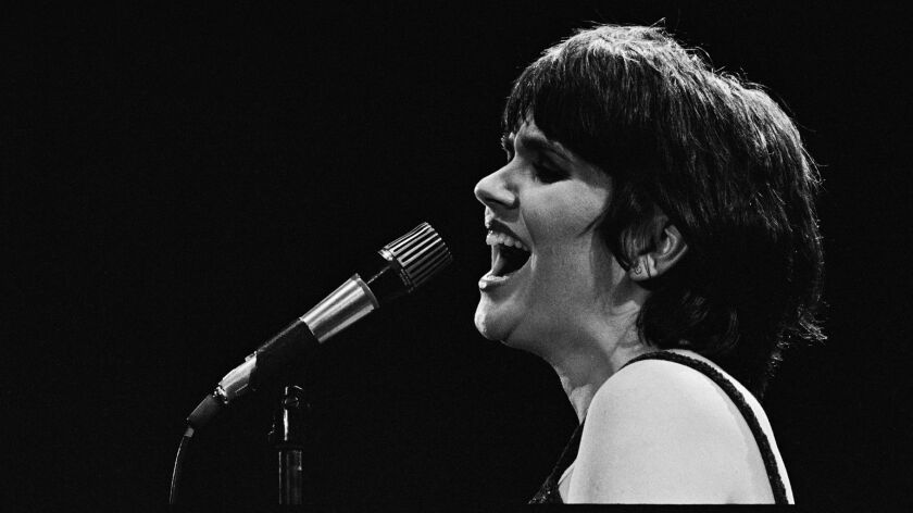 "Linda Ronstadt singing at the Forum in Inglewood in May 1980, just weeks after she recorded a special for HBO from which the audio has been released on the new ""Live in Hollywood"" album."
