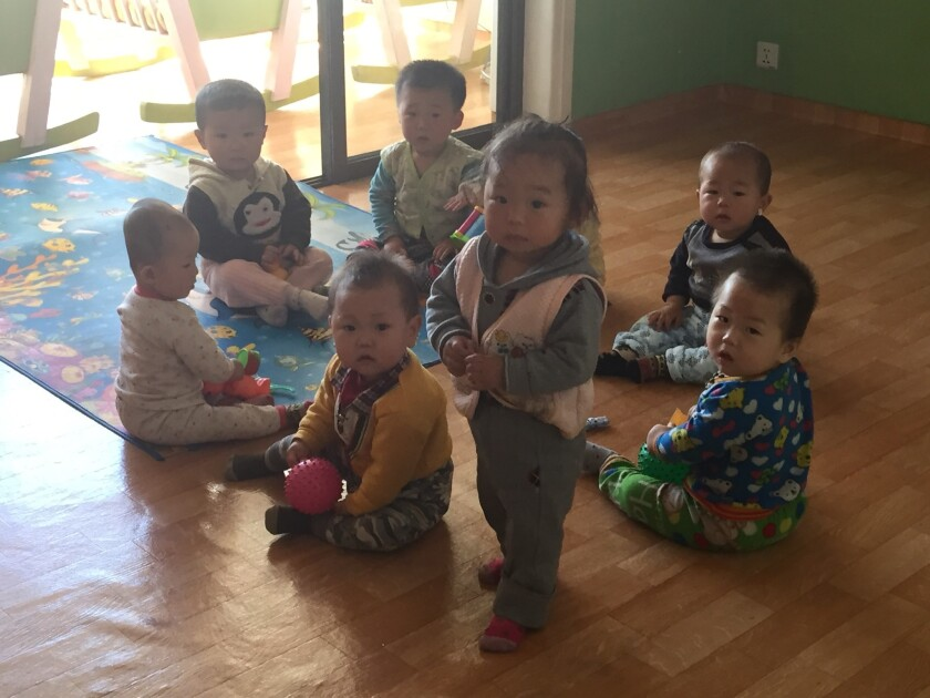 Toddlers at the Changchon farm nursery school.