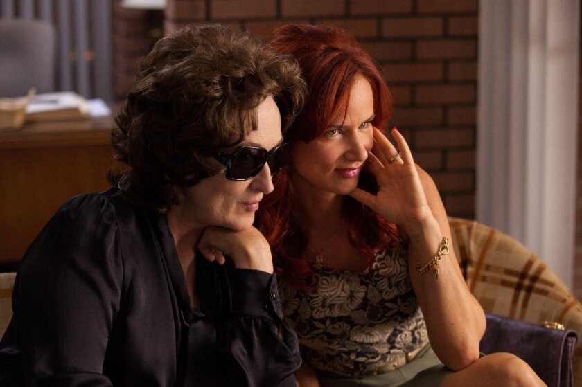 """Meryl Streep, left, and Juliette Lewis in a scene from """"August: Osage County."""""""