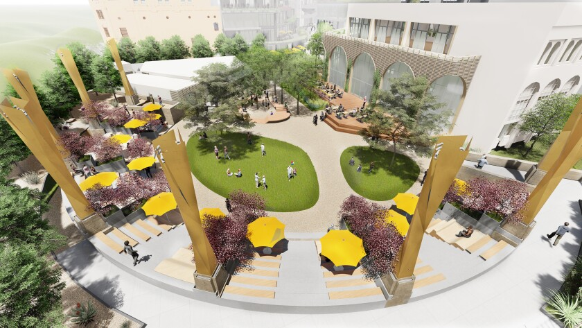 Conceptual rendering of Horton Plaza Park