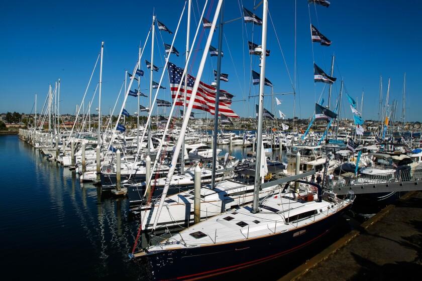 Sunroad Marina Boat Show on Harbor Island.