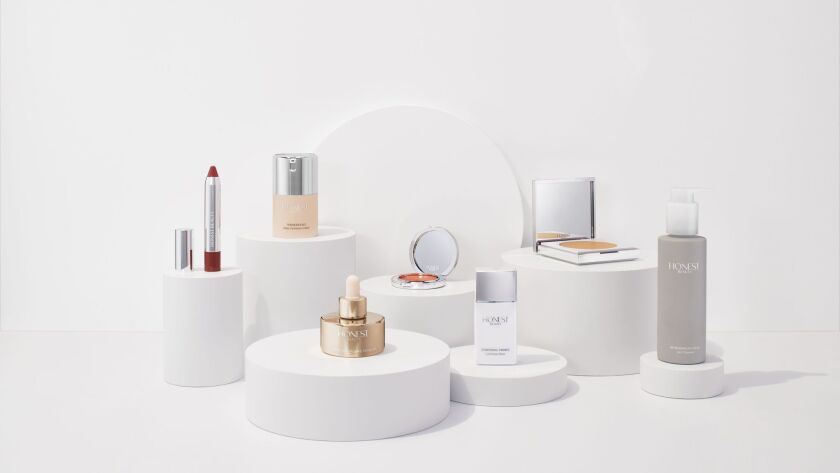 A range of items from Honest Beauty which will be available in Target stores and online at Target.com starting March 26, 2017.