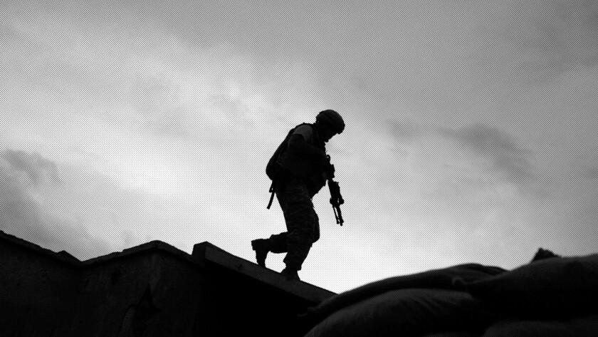 A photo illustration of a U.S. military service member. (AP Illustration)