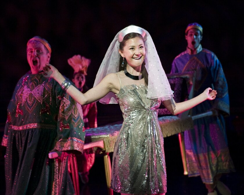 "Kimiko Glenn, pictured in La Jolla Playhouse's workshop production of ""The Nightingale,"" will play the Japanese-American artist Yoshimi in the theater's upcoming, world-premiere rock musical ""Yoshimi Battles the Pink Robots,"" based on the music of The Flaming Lips."