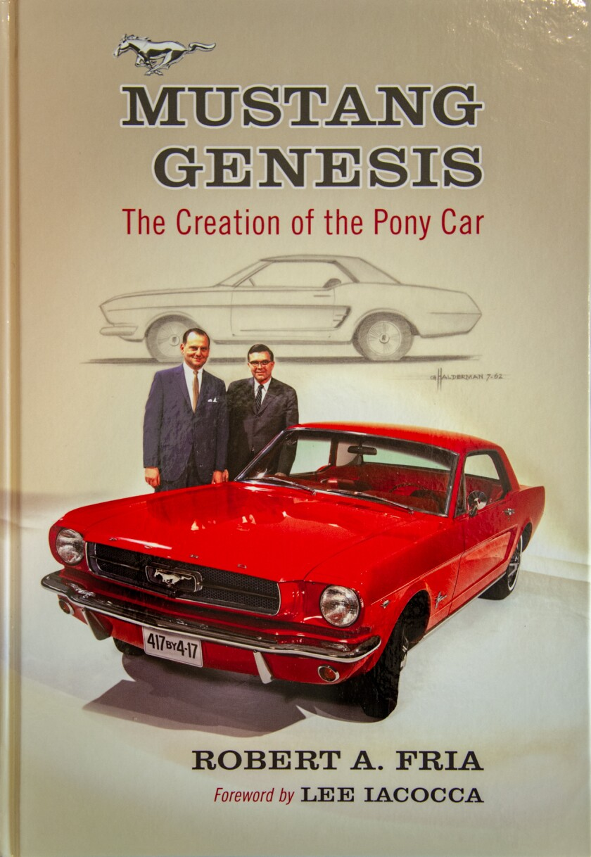 00961-20130305 Mustang Genesis book by Robert Fria-& Mustang model-for AutoMatters 270