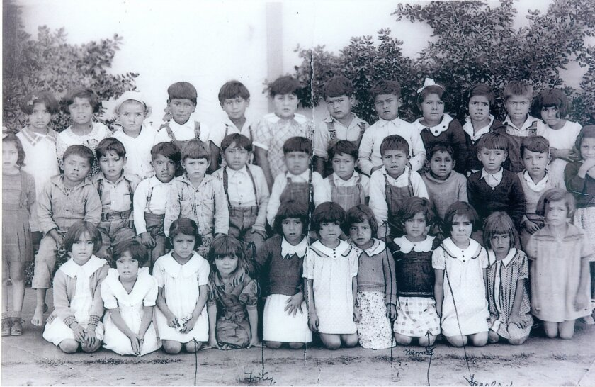 Photo of children from the Americanization School in La Colonia de Eden Gardens about 1935. Photo courtesy of Robert Hernandez
