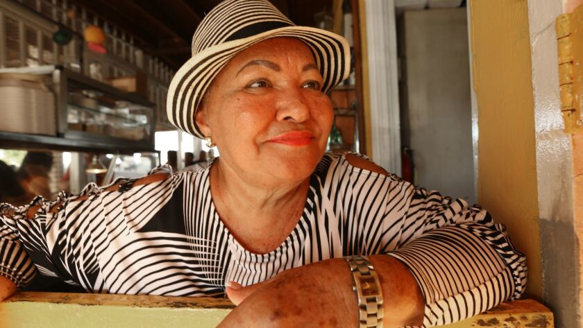 YABUCOA, PUERTO RICO-SEPT. 17, 2018--Carmen M. Davila Ramos, the owner of La Gozadera dance club, wa