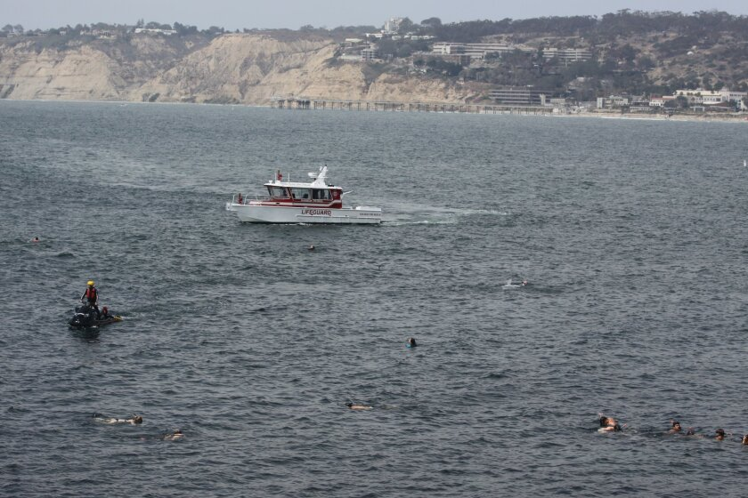 Lifeguards continue to patrol the area where a diver was observed going underwater, but not observed coming back up.