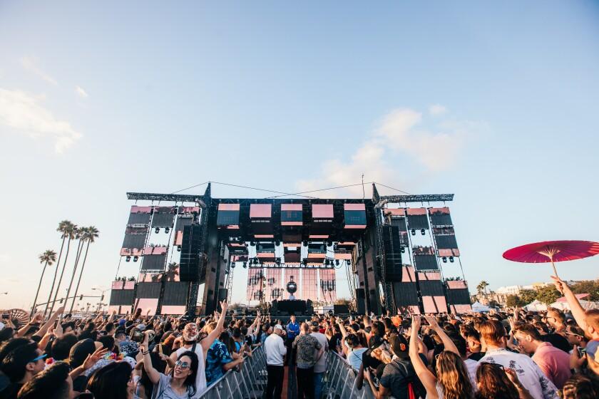 Festival attendees enjoy CRSSD Festival at Waterfront Park in September 2019.