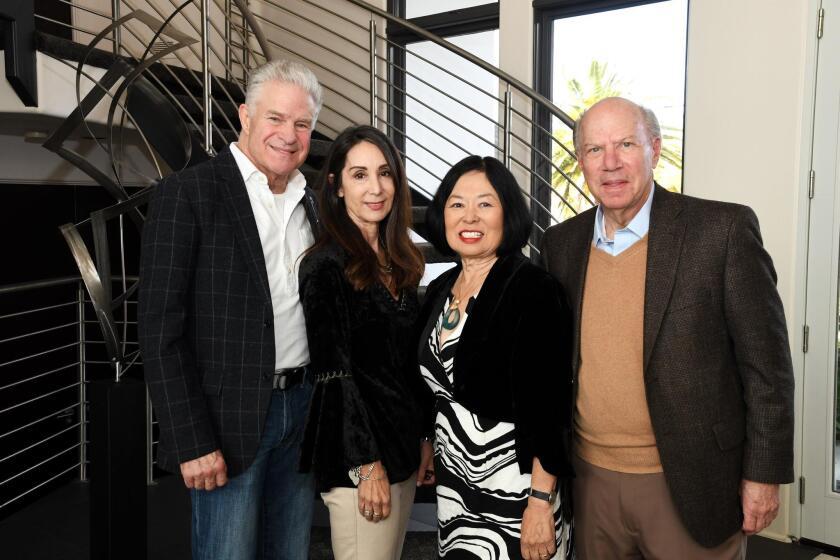 Jim and Debra Lampley (hosts), Carolyn and Dr. John Strauss