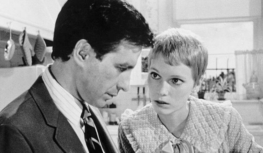 "John Cassavetes and Mia Farrow in Roman Polanski's 1968 version of ""Rosemary's Baby."""