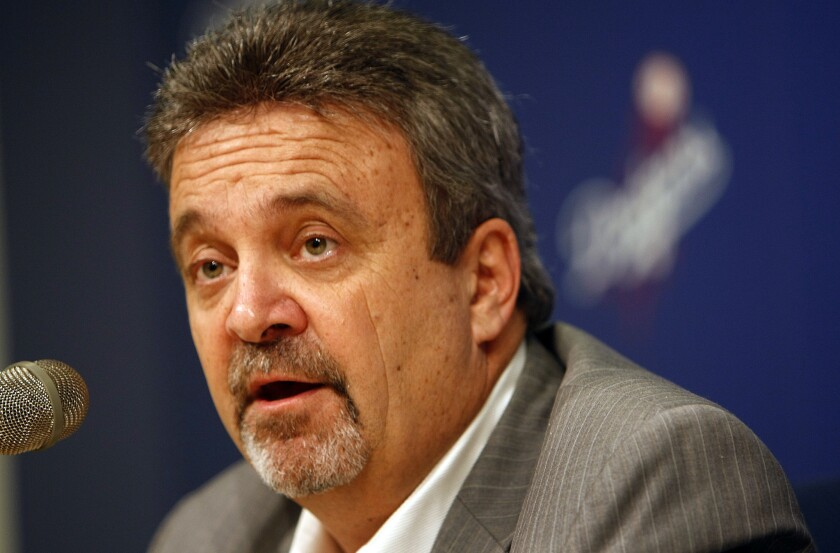 """Dodgers General Manager Ned Colletti says that having to sit a hot bat in every game is """"a situation we're going to have to deal with."""""""
