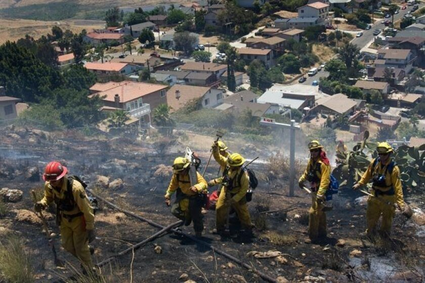 In 2010, firefighters were mopping up a fire on Dictionary Hill, a San Diego place name with an encyclopedic back story.