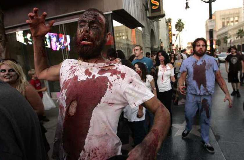 Zombies take over Hollywood Boulevard in a 2009 zombie walk. Would you be ready if they came to your neighborhood?