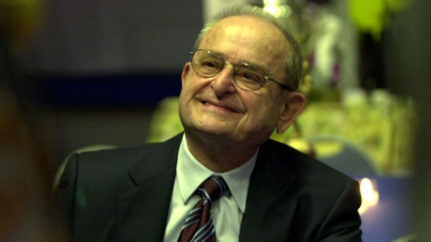 Alex Spanos, pictured at the Hall of Champions Sports Museum in Balboa Park on April 24, 2002.