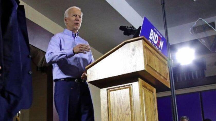 Joe Biden campaigns in Pittsburgh last month.