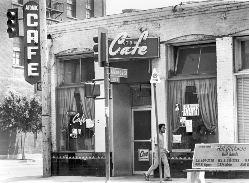 Aug. 1, 1981: Atomic Cafe at 1st and Alameda streets in Los Angeles.