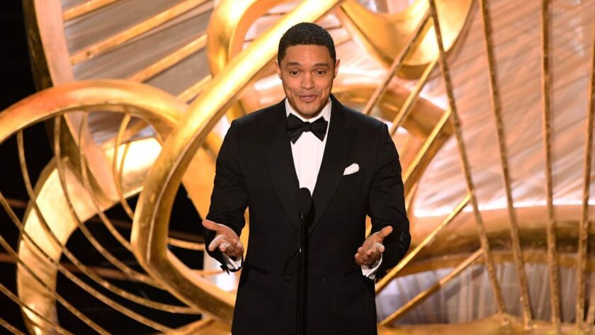 Trevor Noah, slipping a neat joke across the audience at Sunday's Oscars telecast.